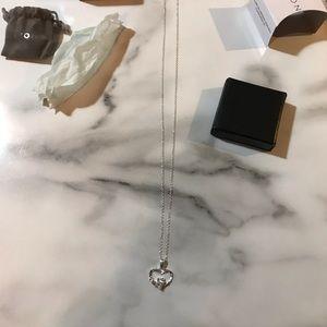 Avon Sterling Silver CZ Claddagh Necklace NIB